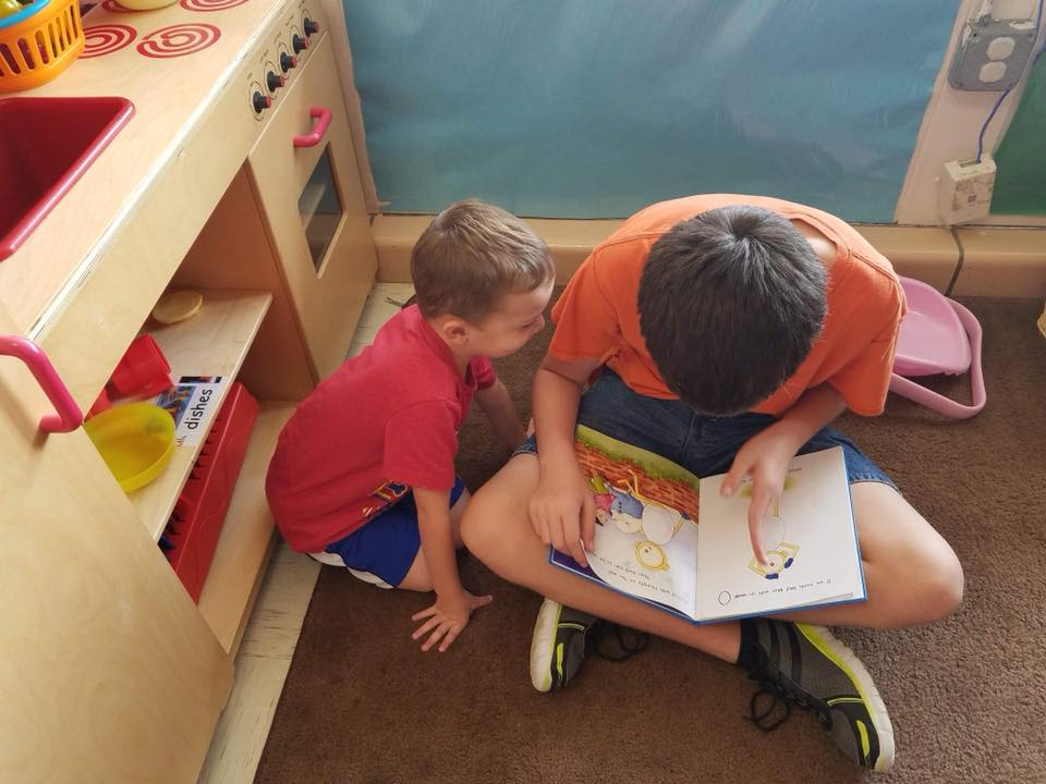Reading Buddies at Oak Creek Academy